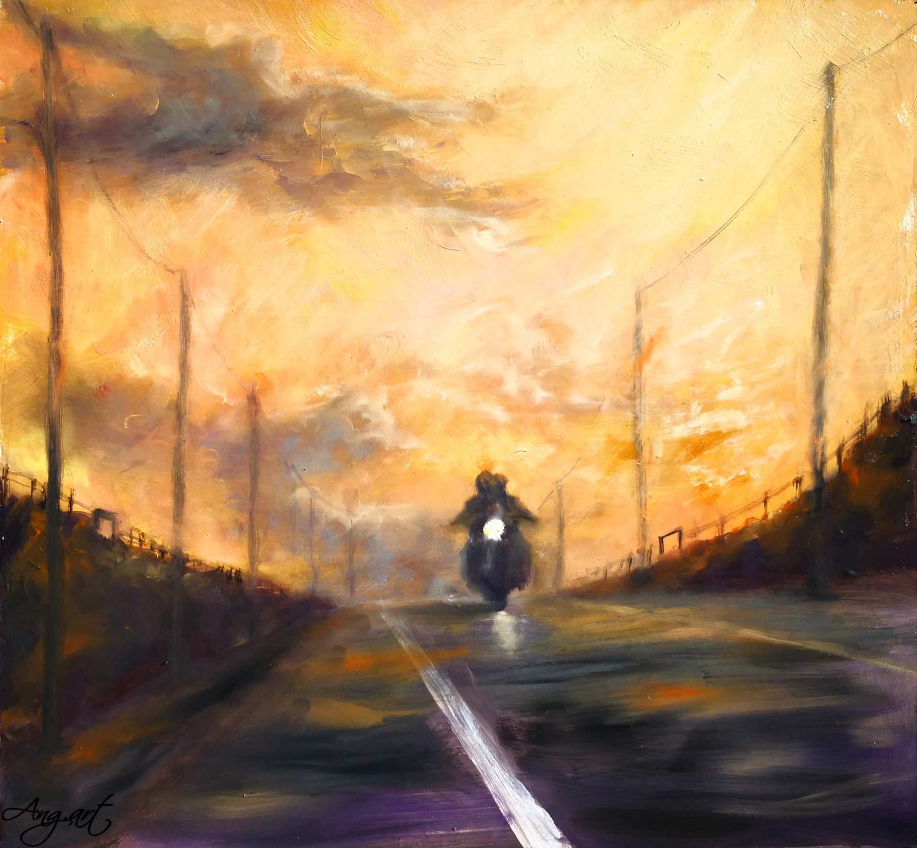AngelaSuto - Bikers In The Sunset